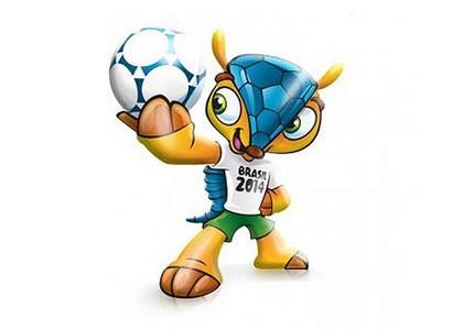 L'armadillo a tre fasce, mascotte di Brasile 2014 -