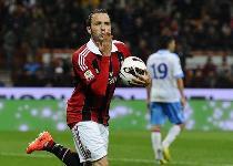 Serie A: Pazzini salva il Milan, Catania beffato