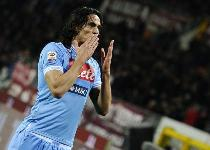 Napoli: duello City-Real per Cavani