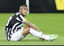 Juventus: grana Vidal, problema muscolare