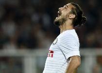 Inter: stiramento per Osvaldo, un mese di stop