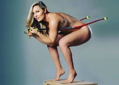 Lindsey Vonn nuda per la presentazione di Strong is the new beautiful