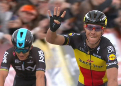 Amstel Gold Race: il belga Philippe Gilbert fa poker