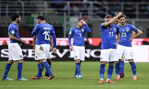 Italia, Buffon in lacrime: