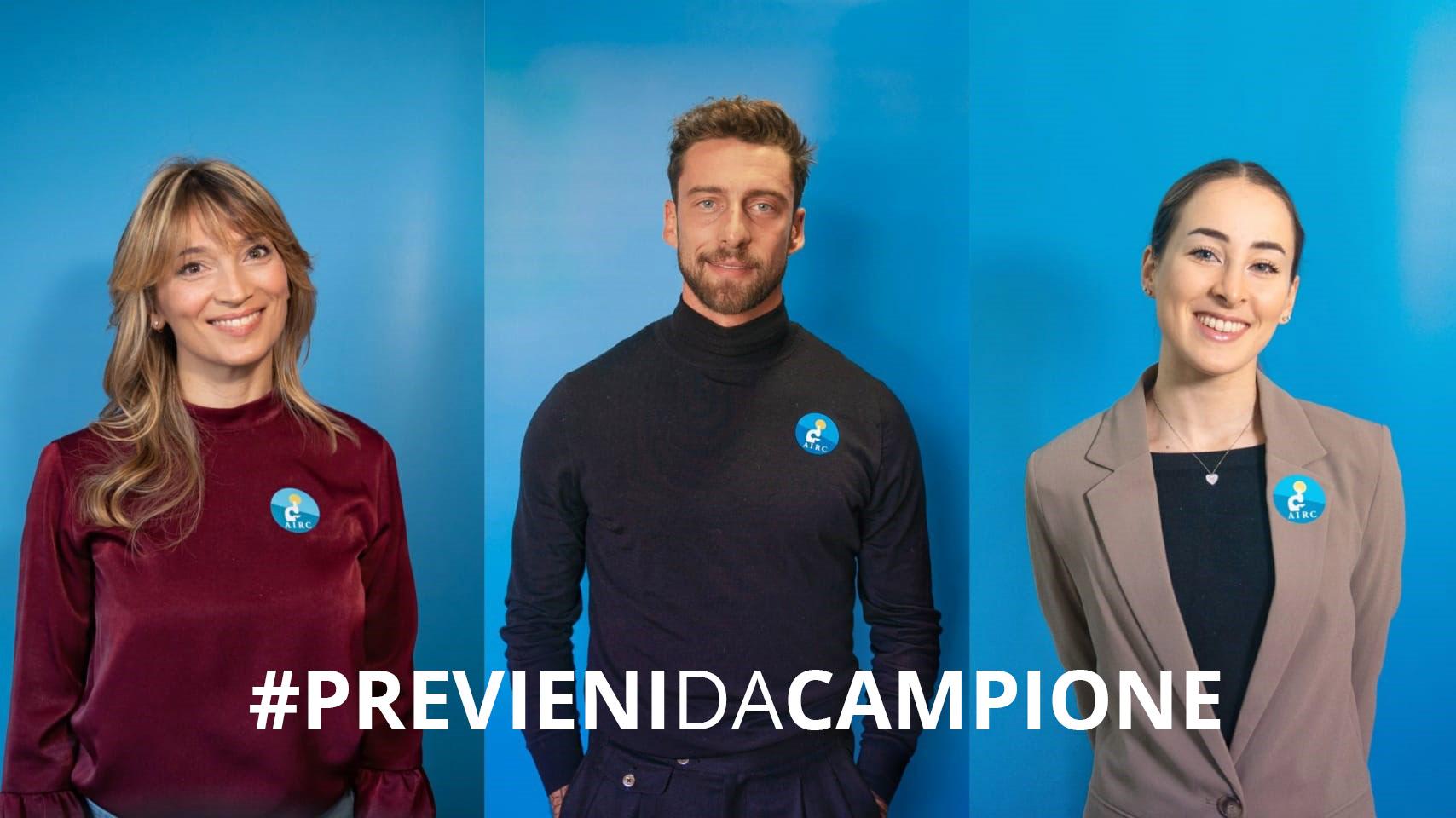 AIRC lancia la campagna delle Arance della Salute: Marchisio, Granbassi e Ferlito testimonial