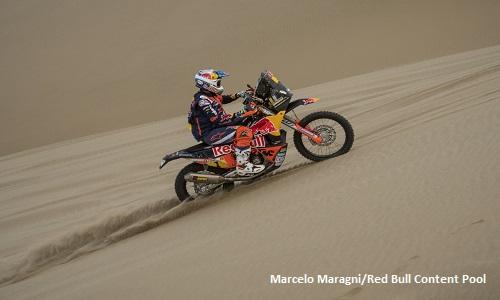 Dakar 2018, terza tappa: Sunderland torna in vetta nelle moto