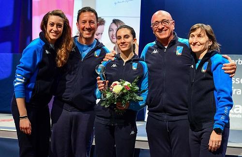 Scherma, Coppa del Mondo femminile: Cipressa di bronzo a Tauber