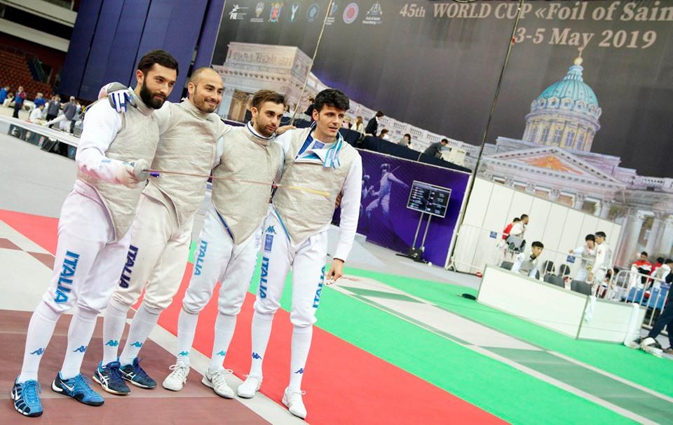 Fioretto Maschile, San Pietroburgo: quinto posto per l'Italia nella gara a squadre