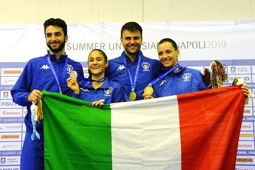 Universiade Napoli2019 - Il sabato italiano della scherma: 4 medaglie