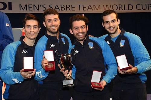 Sciabola maschile, CdM Budapest: Italia terza, vince la Corea del Sud