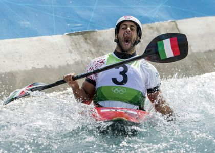 Londra 2012: Daniele Molmenti prima dell'oro. Video
