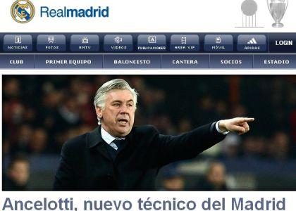 Real Madrid: ufficiale, Ancelotti nuovo tecnico