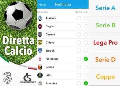 Diretta Calcio: l'App con tutti i risultati live