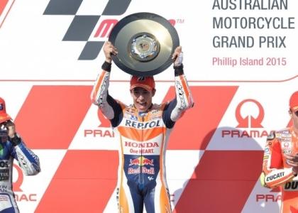 MotoGP, Australia: capolavoro Marquez, Rossi quarto