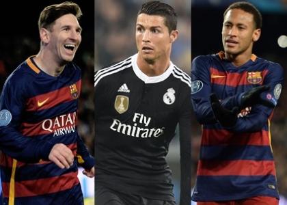 Pallone d'Oro: Messi, Ronaldo e Neymar i finalisti