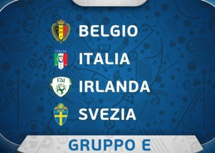 Euro 2016: l'Italia pesca Belgio, Svezia e Irlanda