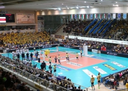Volley, playoff SuperLega: rimontona Trento, 1-0 su Modena