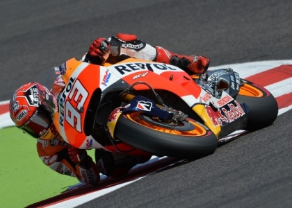MotoGP, Aragona: Marquez in pole, Rossi solo sesto