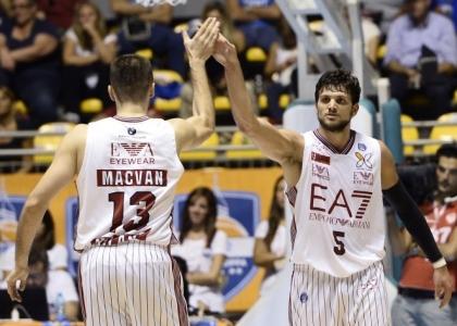 Basket, Supercoppa 2015: Milano rimonta, in finale c'è la Reggiana