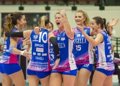 Volley, A1 femminile: Conegliano fa flop, Monza fa festa