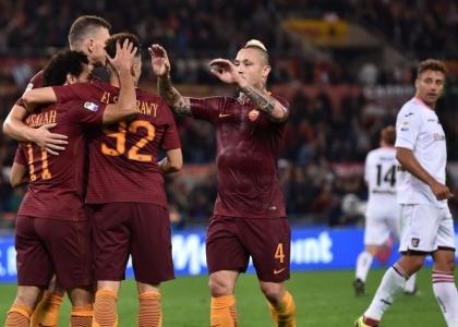Serie A: la Roma non sbaglia, poker al Palermo
