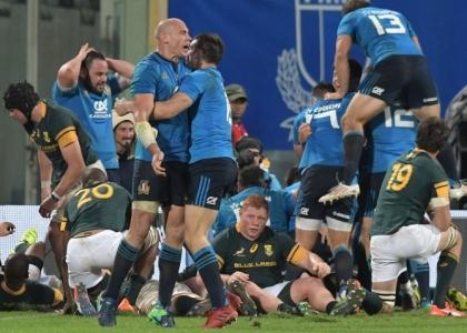 Rugby: storica impresa Italia, Sudafrica battuto 20-18