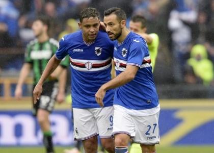 Serie A: rimontona Sampdoria, il Sassuolo si butta via