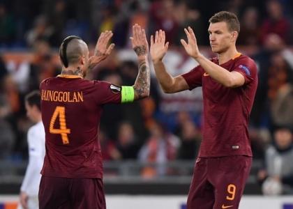 Europa League: Dzeko-Perotti show, la Roma vola ai sedicesimi