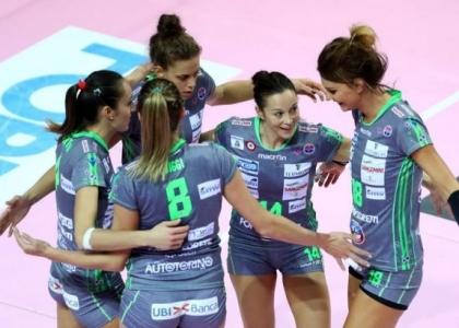 Volley, A1 femminile: vincono tutte le big, comanda sempre Bergamo