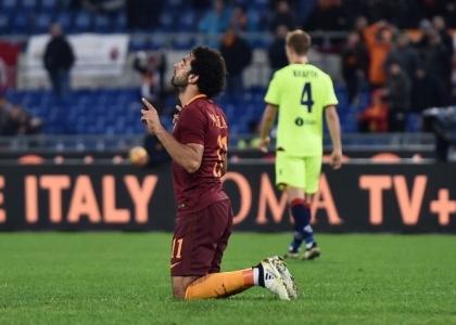 Serie A: Salah tris, la Roma non molla la Juventus