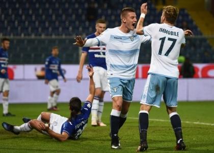 Serie A: la Lazio riparte, Sampdoria affondata