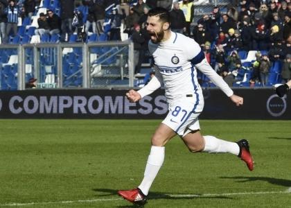 Serie A: all'Inter basta Candreva, regolato il Sassuolo