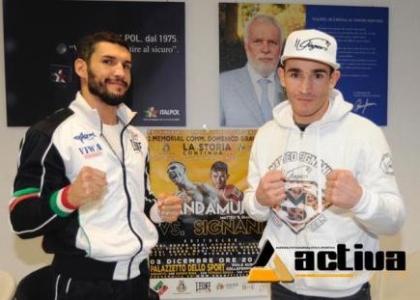 Boxe: medi, derby europeo Blandamura-Signani