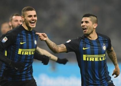 Serie A: Banega e super Icardi, l'Inter vola