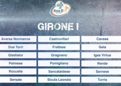 Serie D 2016-17, 17a giornata Girone I: risultati, marcatori e cronaca