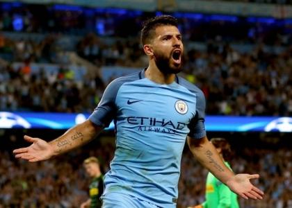 Premier: doppietta Aguero, il Manchester City allunga