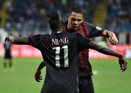 Serie A, Milan-Lazio 2-0: Bacca e Niang coppia d'oro