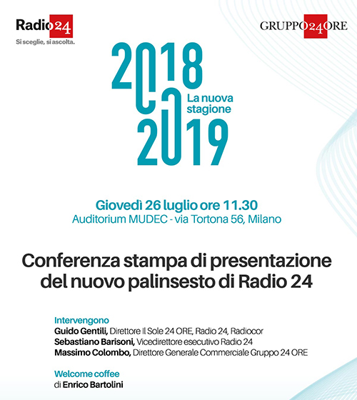 Presentazione palinsesto autunnale di Radio24