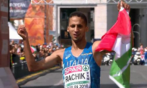 Europei atletica, l'italiano Rachik bronzo nella maratona