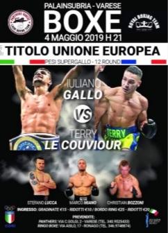 Boxe, Gallo vs Le Couviour: sabato si assegna a Varese il titolo UE supergallo
