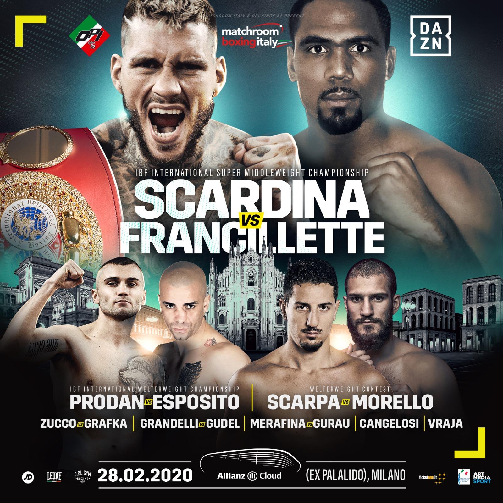 Boxe - Il 20 marzo torna la grande Boxe a Milano dopo lo stop Coronavirus