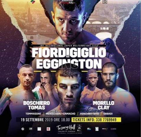Torna la grande boxe il 19 settembre a Firenze: Fiordigiglio, Boschiero e Morello contro avversari difficili