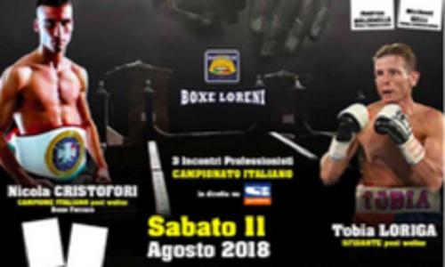 Boxe: Cristofori mantiene il tricolore welter, Loriga KO