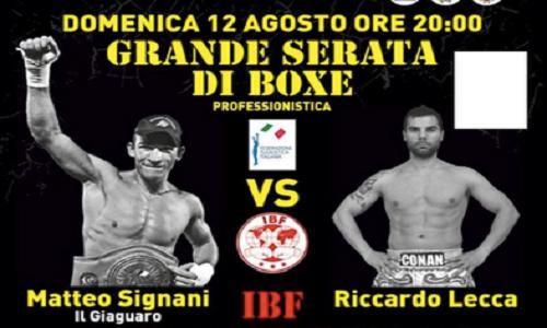 Boxe, i combattimenti del weekend 11-12 agosto