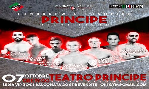 "Sabato al Principe i ""Tomorrow's champions"""