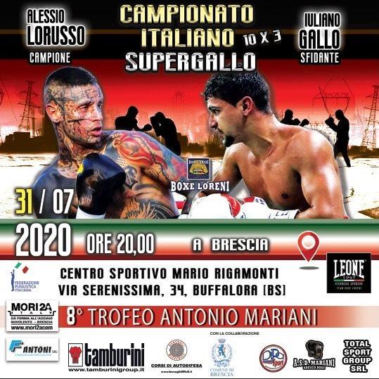 Buccioni e Loreni pronti al via. Il 30 a Roma e 31 luglio a Brescia, torna la boxe titolata in Italia