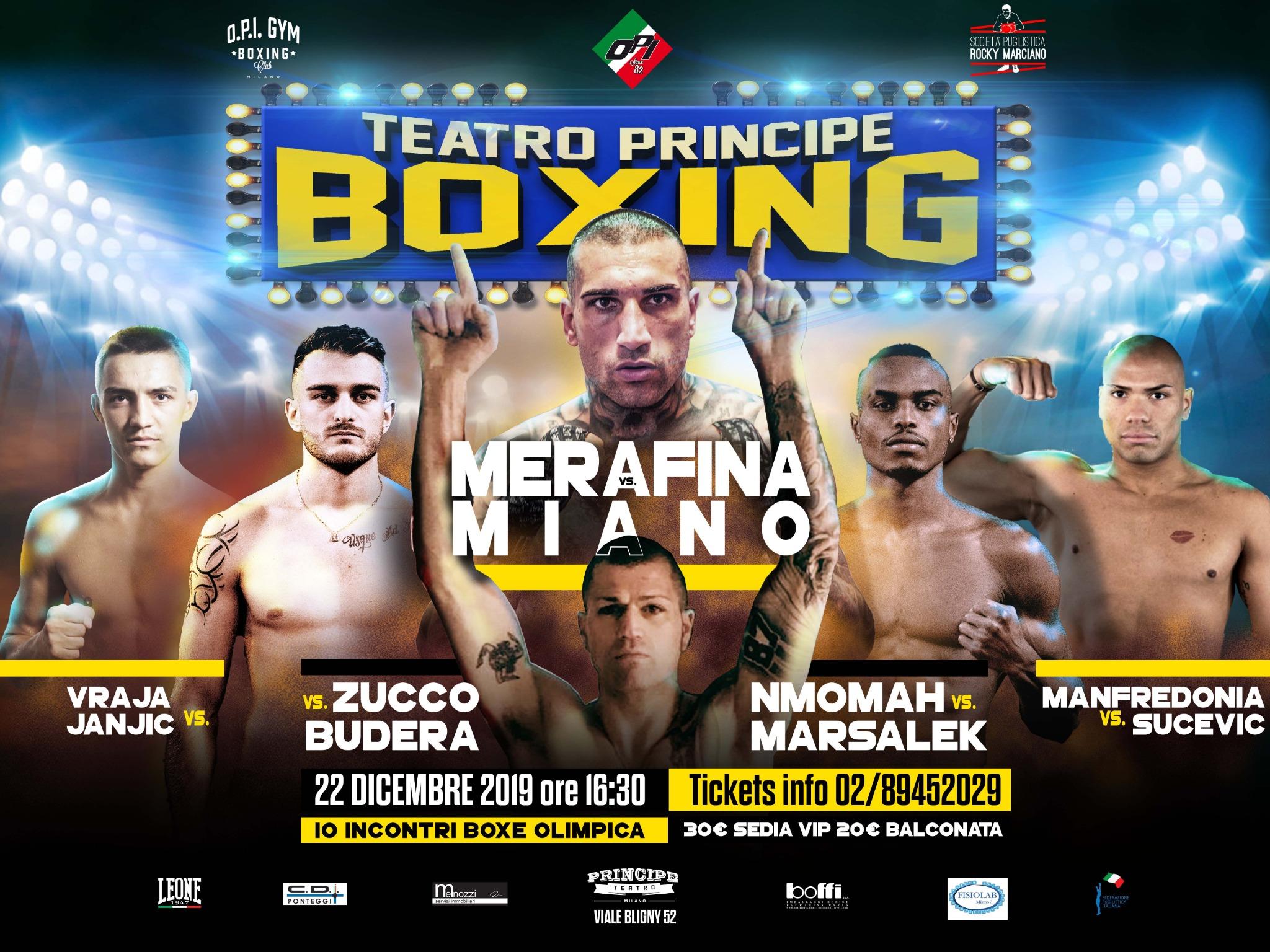 Boxe - Domenica al Principe torna la boxe e a febbraio torna Scardina