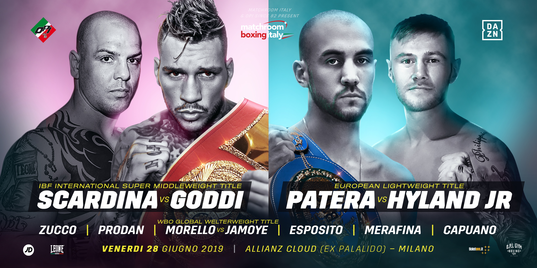 Torna la grande boxe nel nuovo Palalido con Scardina-Goddi e l'europeo leggeri
