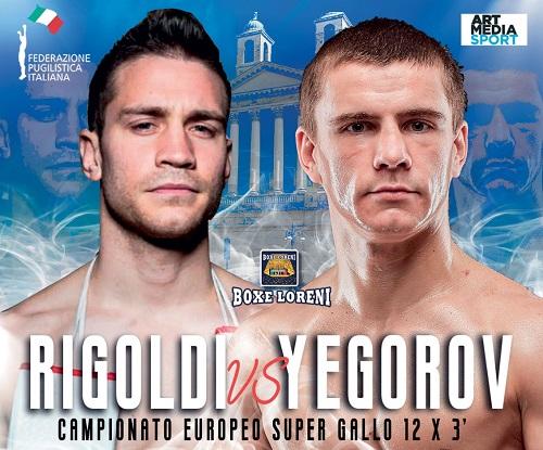Boxe, il 20 settembre a Schio grande sfida europea di Rigoldi contro Yegorov