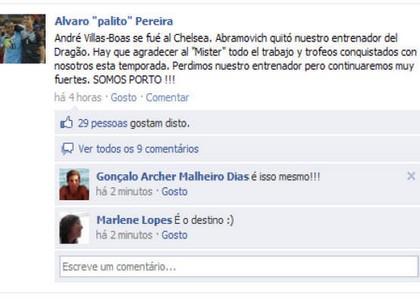 Pereira su Facebook: